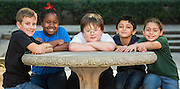 Third-graders pose for a photograph at Shadowbriar School, December 12, 2014.
