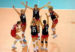 09-09-2012 VOLLEYBAL: EK KWALIFICATIE VROUWEN DENEMARKEN - NEDERLAND: APELDOORN <br /> Denemarken pakt de tweede set<br /> ©2012-FotoHoogendoorn.nl