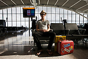 South Africa-bound passenger with the suitcase he has owned since 6 years-old at Heathrow airport's terminal 5