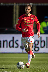 Pantelis Hatzidiakos of AZ during the Dutch Eredivisie match between AZ Alkmaar and FC Groningen at AFAS stadium on March 18, 2018 in Alkmaar, The Netherlands