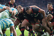 Twickenham, Surrey United Kingdom. Prop, Mako VUNIPOLA, during the England vs Argentina. Autumn International, Old Mutual Wealth series. RFU. Twickenham Stadium, England. <br /> <br /> Saturday  11.11.17.    <br /> <br /> [Mandatory Credit Peter SPURRIER/Intersport Images]