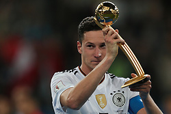 July 2, 2017 - Saint Petersburg, Russia - Julian Draxler of the Germany national football team celebrate winning after the 2017 FIFA Confederations Cup final match between Chile and Germany at Saint Petersburg Stadium on July 02, 2017 in St. Petersburg, Russia. (Credit Image: © Igor Russak/NurPhoto via ZUMA Press)