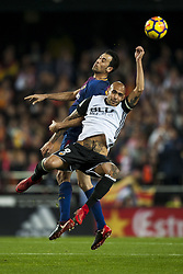 November 26, 2017 - Valencia, Valencia, Spain - Sergio Busquets, Simone Zaza during the match between Valencia CF vs. FC Barcelona, week 13 of La Liga at Mestalla Stadium, Valencia, SPAIN on 26th November 2017. (Credit Image: © Jose Breton/NurPhoto via ZUMA Press)