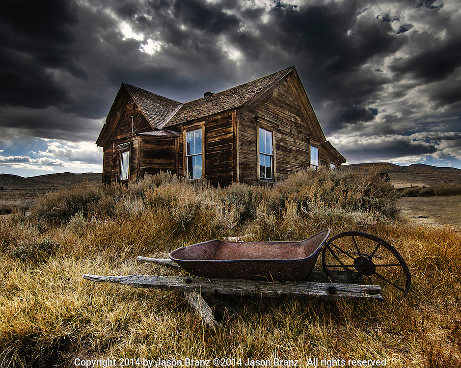 Old house in Bodie State Historical Park, California