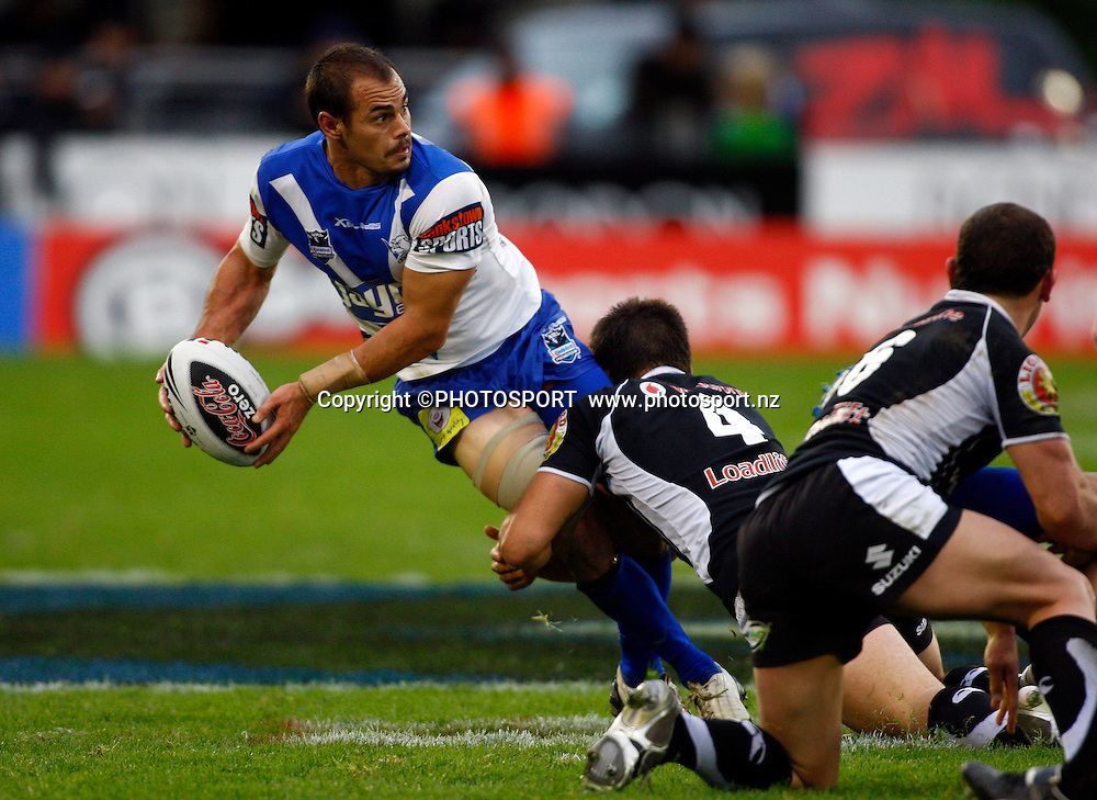 Bulldogs player Michael Sullivan. NRL. Vodafone Warriors v Canterbury Bulldogs, Mt Smart Stadium, Auckland, New Zealand. Sunday 12 July 2009. Photo: Simon Watts/PHOTOSPORT<br /> Editorial Use Only