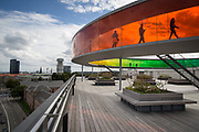 The installation &ldquo;Your Rainbow Panorama&rdquo; by the artist Olafur Eliasson on Aros Museum roof.<br /> Aarhus, a quiet coastal town of Central Jutland is the second most populous city in Denmark and the main port of the country. <br /> Aarhus will be European Capital of Culture 2017.