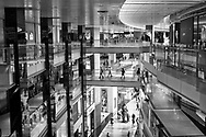 Multi-levels of shopping opportunities at the atrium of the Time-Warner Center on Columbus Circle in New York City