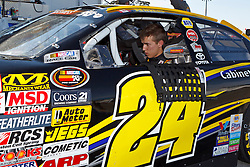 ROSEVILLE, CA - OCTOBER 13: Cameron Hayley, driver of the #24 NAPA Gold Filters/Cabinets by Hayley Toyota sits in his car during practice for the NASCAR K&N Pro Series West Toyota/NAPA 150 at the All American Speedway on October 13, 2012 in Roseville, California. (Photo by Jason O. Watson/Getty Images for NASCAR) *** Local Caption *** Cameron Hayley