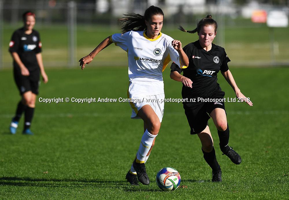Hannah Pilley.<br /> Eastern Suburbs v Western Springs, Premier Div 1 Women's football match, Madills Farm, Auckland, Sunday 20 May 2018. &copy; andrew cornaga / www.photosport.nz