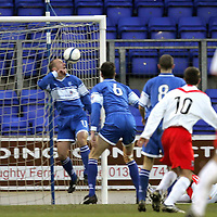 St Johnstone v Airdrie Utd..20.01.2007<br />Paul Sheerin can't prevent Aime Koudou's header from going in to make it 3-2<br />Picture by Graeme Hart.<br />Copyright Perthshire Picture Agency<br />Tel: 01738 623350  Mobile: 07990 594431