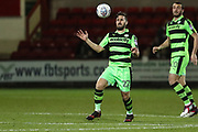 Forest Green Rovers Chris Clements(22) controls the ball during the EFL Sky Bet League 2 match between Crewe Alexandra and Forest Green Rovers at Alexandra Stadium, Crewe, England on 20 March 2018. Picture by Shane Healey.