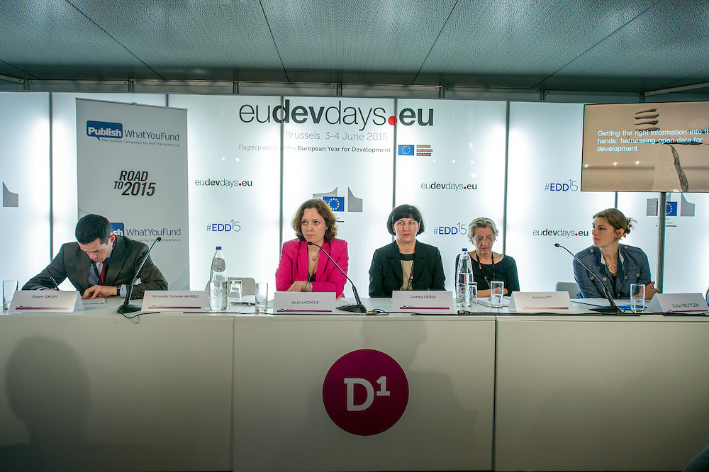04 June 2015 - Belgium - Brussels - European Development Days - EDD - Financing - Getting the right information into the right hands - Harnessing open data for development © European Union
