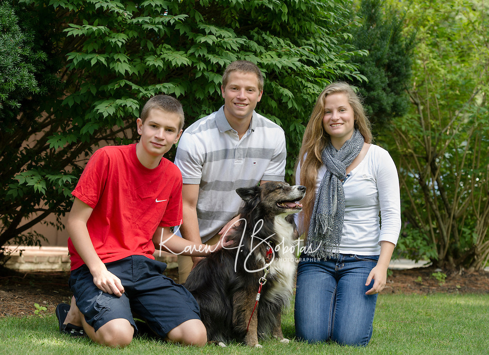 Mercer family and senior portrait session.  ©2015 Karen Bobotas Photographer