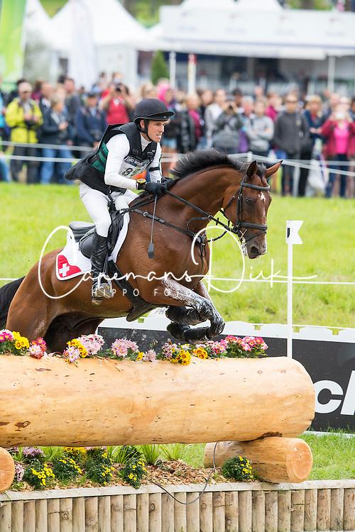 Felix Vogg, (SUI), Onfire - Eventing Cross Country test - Alltech FEI World Equestrian Games&trade; 2014 - Normandy, France.<br /> &copy; Hippo Foto Team - Leanjo de Koster<br /> 30/08/14