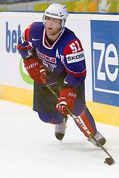 Mitja Robar of Slovenia during ice-hockey match between Slovakia and Slovenia of Group A of IIHF 2011 World Championship Slovakia, on April 29, 2011 in Orange Arena, Bratislava, Slovakia. Slovakia defeated Slovenia 3-1. (Photo By Vid Ponikvar / Sportida.com)