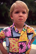 Boy in aloha shirt<br />
