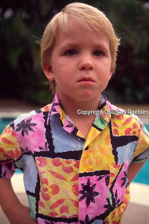 Boy in aloha shirt<br />