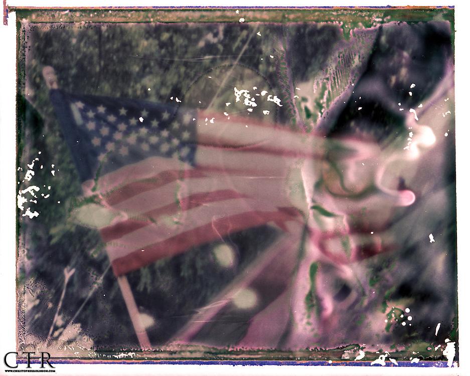 Instant Polaroid negative scans.