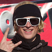Taylor Seaton, USA, first place winner of  the Men's Halfpipe Finals during The North Face Freeski Open at Snow Park, Wanaka, New Zealand, 3rd September 2011. Photo Tim Clayton.