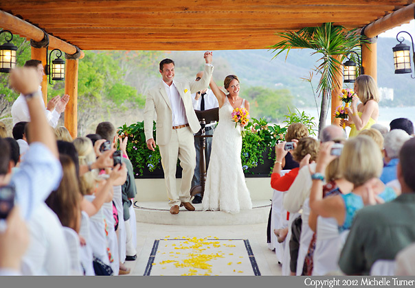 Sarah and Marc's gorgeous ceremony at the Playa Fiesta Hotel in Puerto Vallarta, Mexico.  Image by Puerto Vallarta Wedding Photographer Michelle Turner.