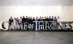 The cast and crew of Game of Thrones attending the Game of Thrones Premiere, held at Waterfront Hall, Belfast.