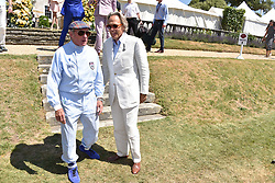 Sir Jackie Stewart and the Duke of Richmond at the 'Cartier Style et Luxe' enclosure during the Goodwood Festival of Speed, Goodwood House, West Sussex, England. 15 July 2018.
