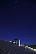 night sky with chimneys