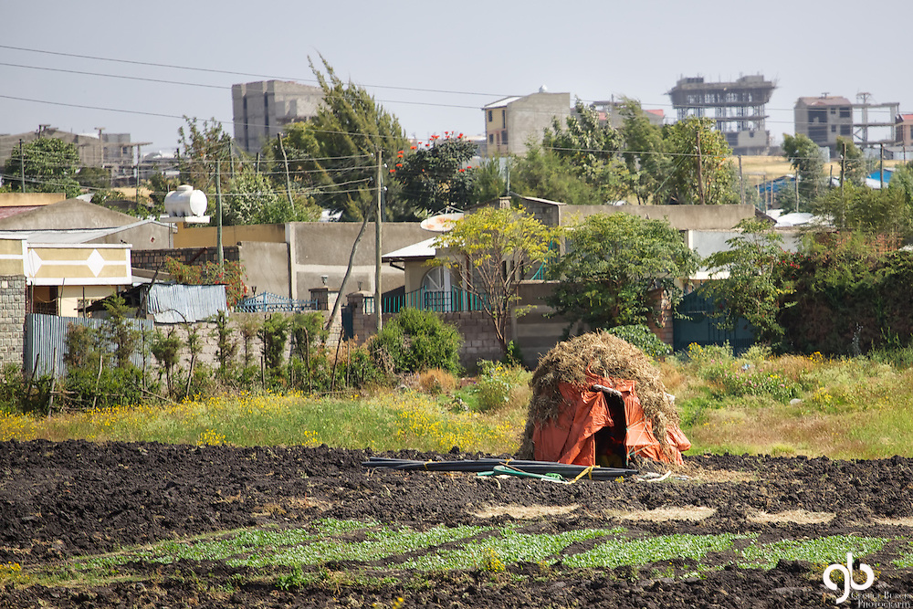 This is an example of the disparity in housing in Addis Ababa, Ethiopia.