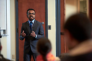 "Sharif Wahab, a Masters Student studying Enviornmental Studies in the Voinovich School of Leadership and Public Affairs presents his thesis entitled ""Effectiveness of an Online Portal for Climate Adaptation Knowledge Diffusion""."