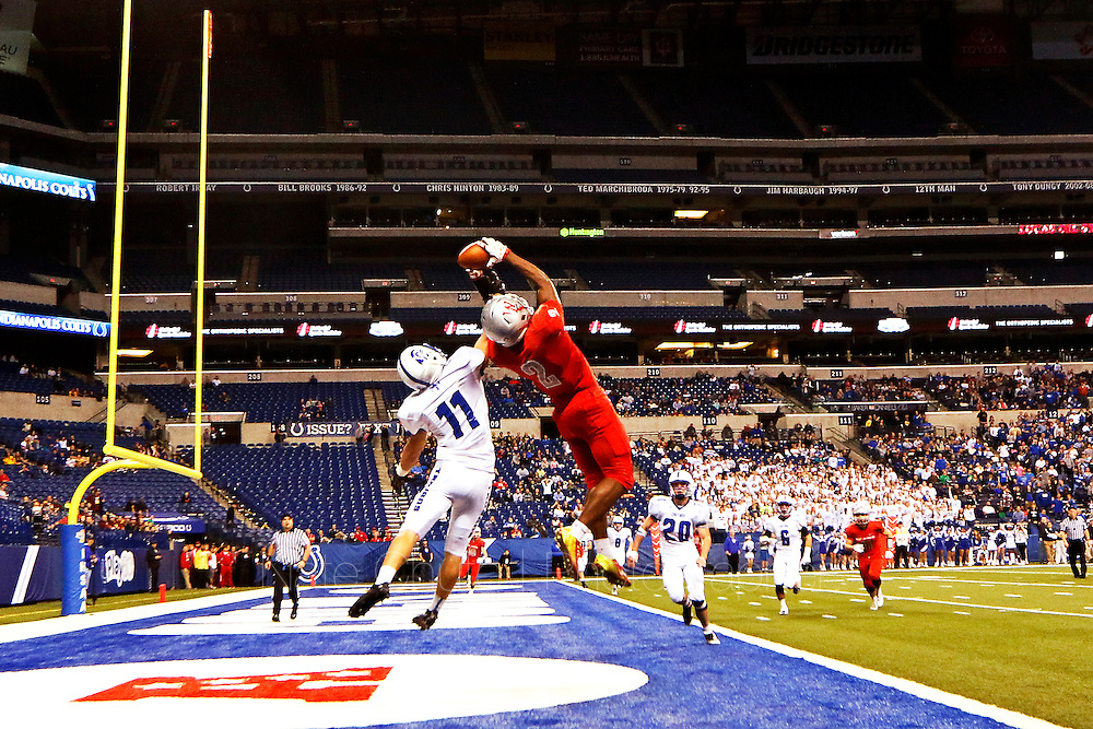 West Lafayette takes on Bishop Chatard in the IHSAA Class 3A State Championship at Lucas Oil Stadium in Indianapolis, Ind. on Friday, November 27, 2015.