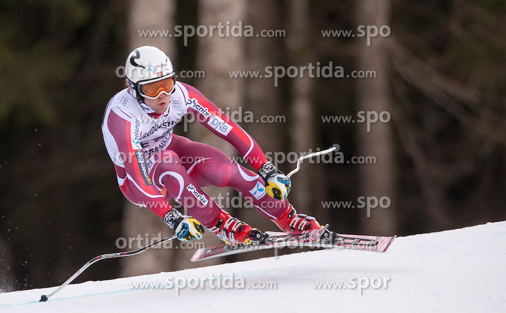 30.01.2016, Kandahar, Garmisch Partenkirchen, GER, FIS Weltcup Ski Alpin, Abfahrt, Herren, im Bild Aleksander Aamodt Kilde (NOR, 1. Platz) // winner Aleksander Aamodt Kilde of Norway competes in his run for the men's Downhill of Garmisch FIS Ski Alpine World Cup at the Kandahar course in Garmisch Partenkirchen, Germany on 2016/01/30. EXPA Pictures © 2016, PhotoCredit: EXPA/ Johann Groder