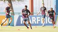 Daniel Sturridge of England (C) during the England open training session at Est&aacute;dio Claudio Coutinho, Urca, Rio de Janeiro<br /> Picture by Andrew Tobin/Focus Images Ltd +44 7710 761829<br /> 16/06/2014