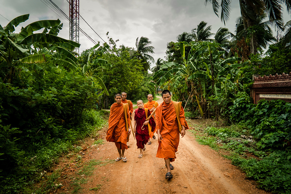 Monks in Battambang, Cambodia.