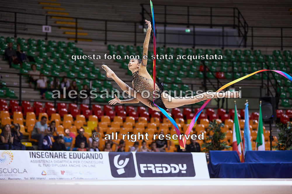 "Rebeca Riccò by team italia of rhythmic gymnastics  during the ""7th tournament city of Desio"", 09 March 2019."