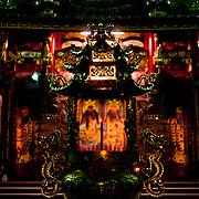 Guan Di Miao Temple's incense censer at night, #60 Peitou, Guan Miao Township, Tainan County, Taiwan