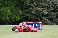Picture by Andrew Tobin/Tobinators Ltd +44 7710 761829.24/05/2013.Balls and tacklebags ready and waiting during the England training session at Pennyhill Park, Bagshot ahead of the match against the Barbarians on 26th May 2013.
