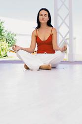Jul. 26, 2012 - Woman meditating (Credit Image: © Image Source/ZUMAPRESS.com)