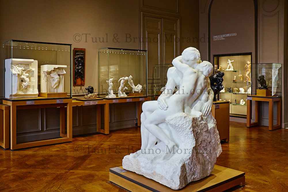 France, Paris (07), musée Rodin, 77 rue de Varenne, Le Baiser // France, Paris, Rodin museum, The Kiss