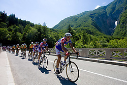 Blaz Jarc (SLO) of Adria Mobil at Slap Boka at 1st stage of Tour de Slovenie 2009 from Koper (SLO) to Villach (AUT),  229 km, on June 18 2009, in Koper, Slovenia. (Photo by Vid Ponikvar / Sportida)