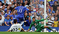 Chelsea FC vs Tottenham Hotspur FC Premiership 20/09/09<br /> Photo Nicky Hayes Fotosports International<br /> Didier Drogba goes past Carlo Cudicini to score Chelsea's 3rd goal.