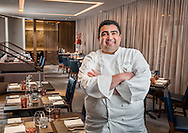 Executive chef Bryan Moscatello at The Little Nell hotel in Aspen, Colorado.