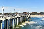 Huntington Beach Pier Looking Towards the Shore