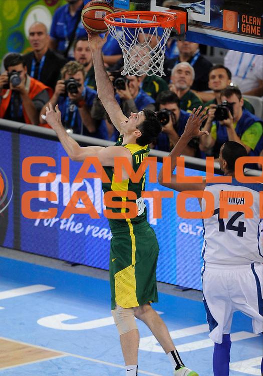 DESCRIZIONE : Lubiana Ljubliana Slovenia Eurobasket Men 2013 Finale Final Francia France Lituania Lithuania<br /> GIOCATORE : Darius Lavrinovic<br /> CATEGORIA : tiro shot<br /> SQUADRA : Lituania Lithuania<br /> EVENTO : Eurobasket Men 2013<br /> GARA : Francia France Lituania Lithuania<br /> DATA : 22/09/2013 <br /> SPORT : Pallacanestro <br /> AUTORE : Agenzia Ciamillo-Castoria/N.Parausic<br /> Galleria : Eurobasket Men 2013<br /> Fotonotizia : Lubiana Ljubliana Slovenia Eurobasket Men 2013 Finale Final Francia France Lituania Lithuania<br /> Predefinita :