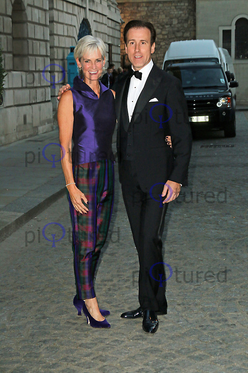 Judy Murray; Anton Du Beke, Dot Com Children's Foundation Strictly Ballroom - charity dinner, The Mansion House, London UK, 16 September 2014, Photo by Richard Goldschmidt