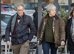 © Licensed to London News Pictures. 09/12/2017. Maidenhead, UK. Prime Minister Theresa May and her husband Philip shop together in her constituency. Photo credit: Peter Macdiarmid/LNP