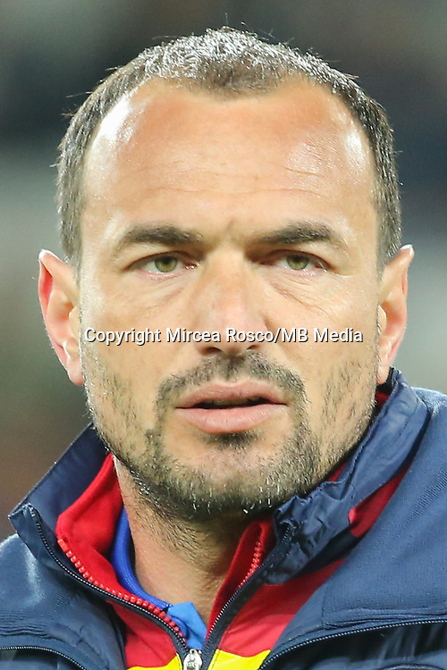 CLUJ-NAPOCA, ROMANIA, MARCH 26: Ionut Badea the assistant coach of Romania National Team pictured before the 2018 FIFA World Cup qualifier soccer game between Romania and Denmark, on March 26, at Cluj Arena Stadium, in Cluj-Napoca, Romania. (Photo by Mircea Rosca/Getty Images)