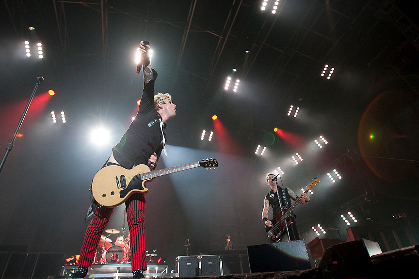 California Punk rock band Green Day perform at the Quai Jacques Cartier in Montreal. PHOTO BY TIM SNOW