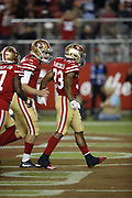 San Francisco 49ers running back Jeremy McNichols (33) in action during the 2018 NFL preseason week 4 football game against the Los Angeles Chargers on Thursday, Aug. 30, 2018 in Santa Clara, Calif. The Chargers won the game 23-21. (©Paul Anthony Spinelli)