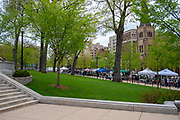 Photograph from the Madison, Wisconsin Saturday morning Farmers Market held on the Capitol Square.