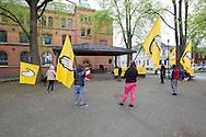 Nye SOS Rasisme avholder markering mot rasisme og nazisme, i Tordenskjoldparken lørdag 25 mai 2013. Markeringen er et svar på NDL-demonstrasjonen i Ilaparken samme dag.